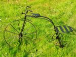 Bycicle wrought iron flower stand