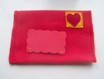 Valentine day heart sewn envelope
