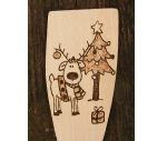 Christmas reindeer christmas tree wooden spoon