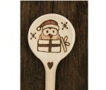 Owl Christmas wooden spoon