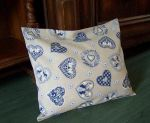 Christmas cushion case blue heart