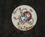 Christmas angel fridge magnet