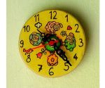 Animal small wall clock handmade