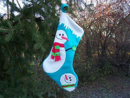 Santa Claus gift stocking