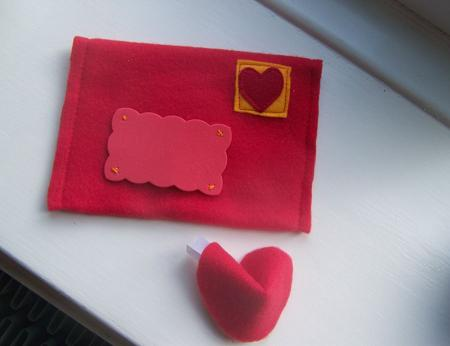 Fortune cookie and envelope Valentine day