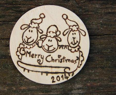 Sheep fridge magnet Christmas