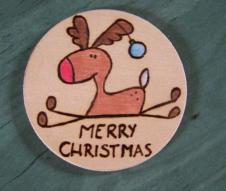 Reindeer christmas fridge magnet