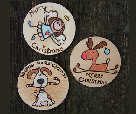 Christmas fridge magnets