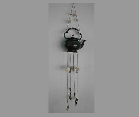 English vintage teapot wind chime