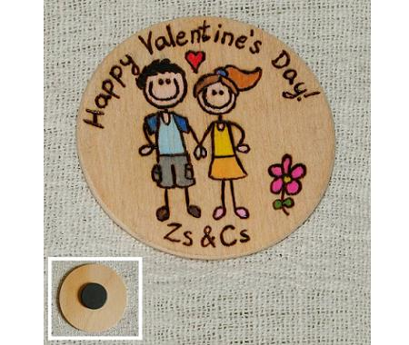 Valentine day personalized fridge magnet