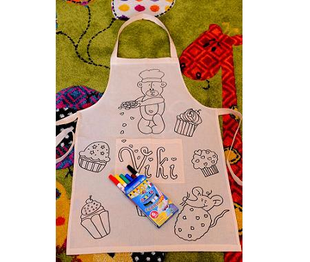 Muffin personalized apron for kids