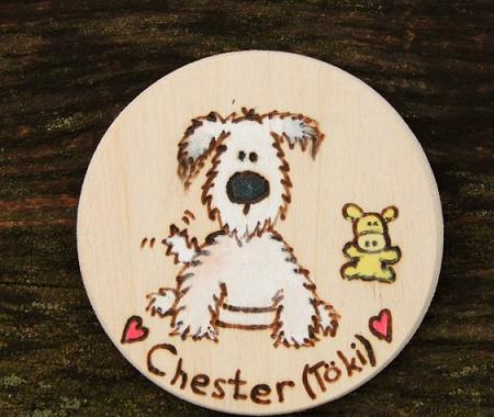 Personalized pet fridge magnet