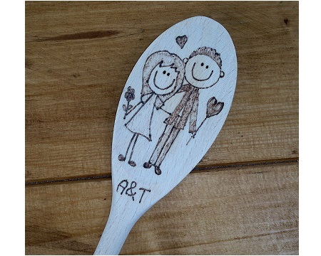 Valentine wooden spoon