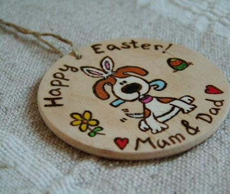 Easter dog gift bauble