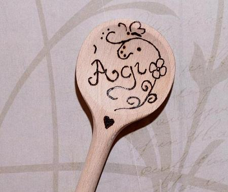 Personalized wooden spoon with name