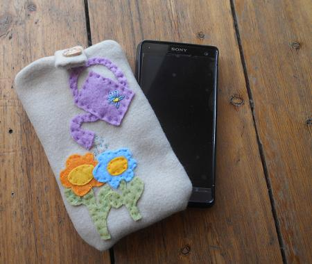 Personalized handmade mobil case flowers
