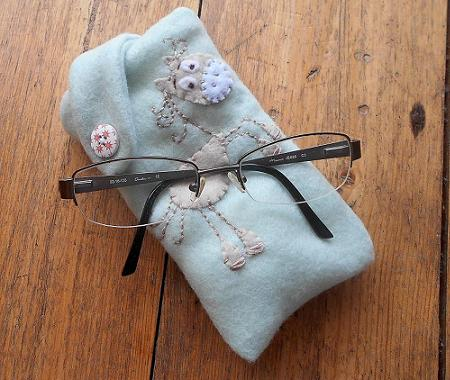 Cute handmade horse glasses case