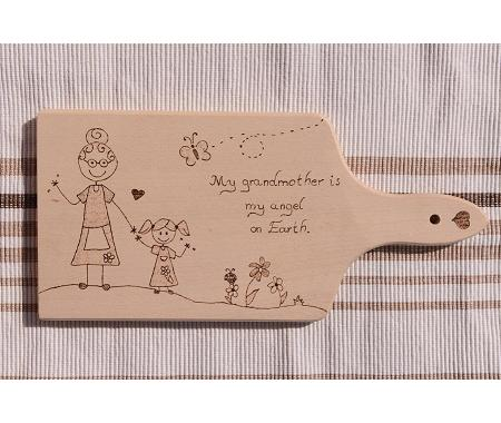 Personalized handmade wooden cut board for mom