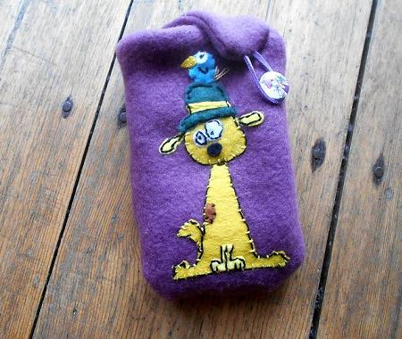 Yellow dog soft mobil case