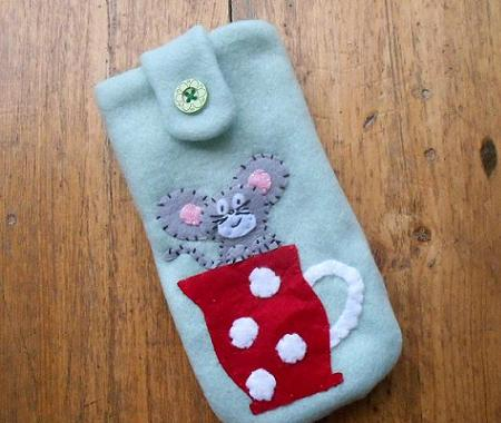 Mouse handmade case for mobile or camera