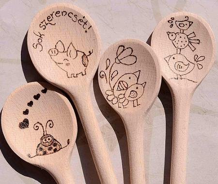 Personalized handmade wooden spoon for graduation birthday surprise