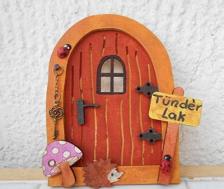 Wooden fairy door creativity