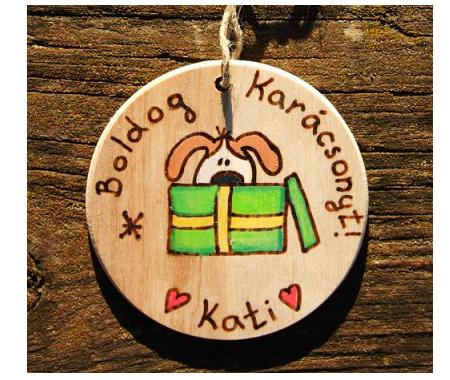 Christmas wooden gift message bauble