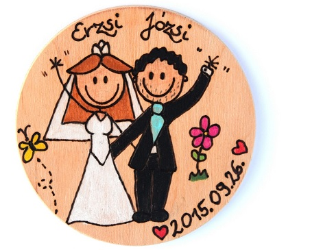 Wedding fridge magnet
