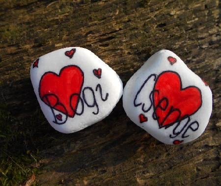Handpainted rock with name