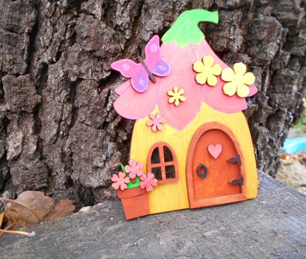 Colorable fairy house