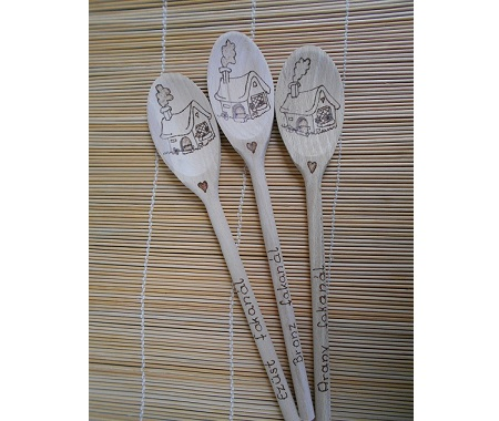 My engraved village wooden spoon