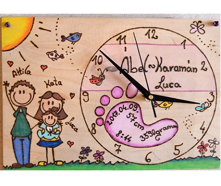 Personalized newborn gift clock
