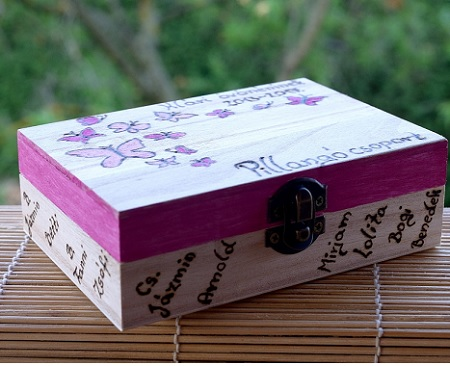 wooden box wedding graduation