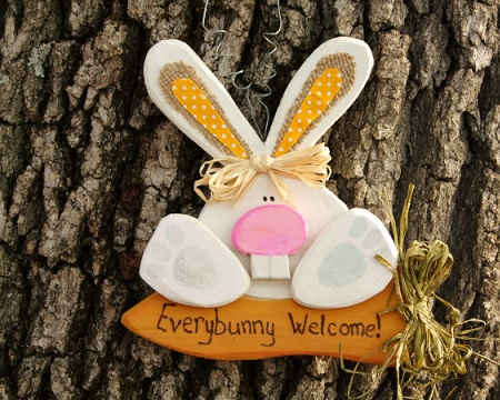 Bunny door decoration