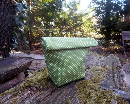 Green dotted Waterproof sandvich bag, reusable, zero waste, lunch bag