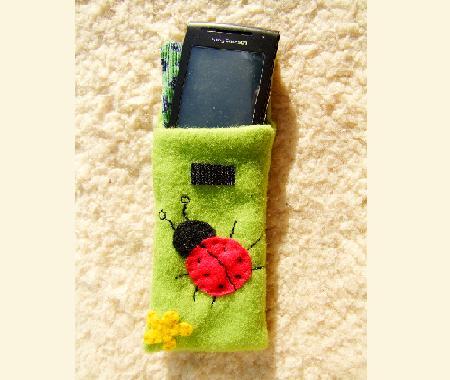 Ladybird mobile phone holder