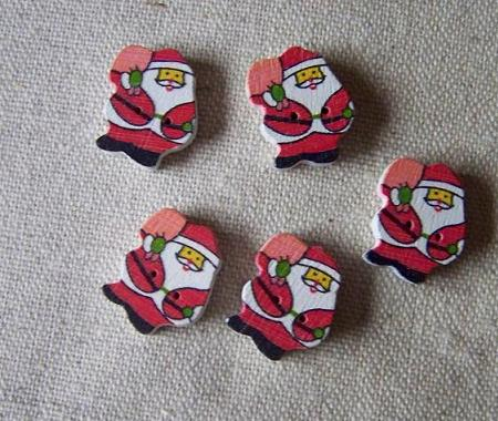 Santa Claus button for scrapbook and sewing